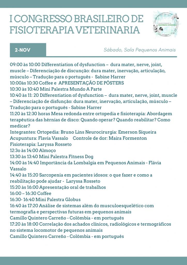 conheça o Congresso Brasileiro de Fisioterapia Veterinária